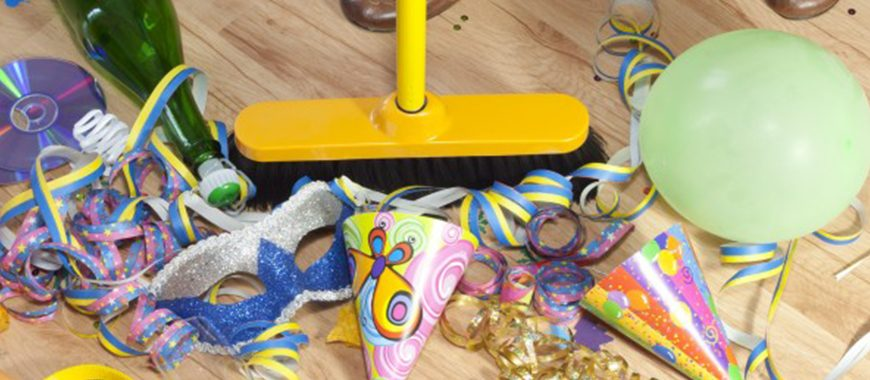 Pre and post party cleaning in Guildford and Surrey